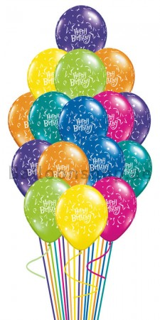 A Touch Of Color Birthday Balloon Bouquet