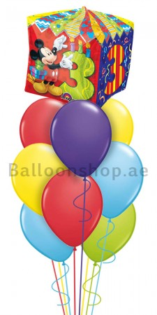Mickey Mouse 3rd Birthday Balloon Arrangement