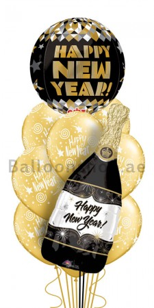 Ultra Jumbo Happy New Year Balloon Arrangement