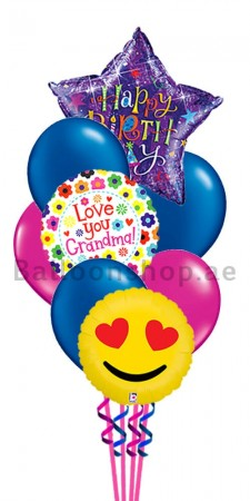 Happy Birthday Grand Mother Balloon Bouquet