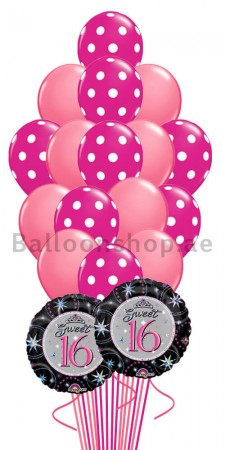 Sweet 16 Birthday Balloon Bouquet