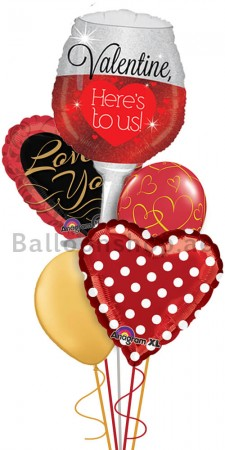 Mega Jumbo Love is Red, Valentine's Day Balloon Arrangement
