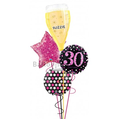 Personalized Ultimate 30th Birthday Balloon Arrangement