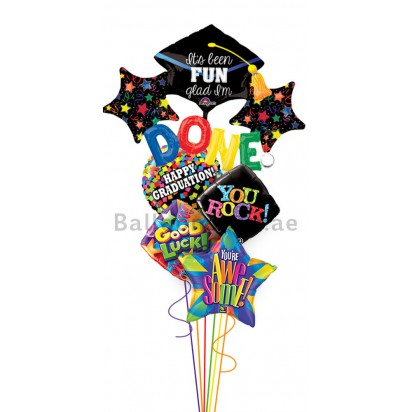 Ultra Jumbo 3D Madness Graduation Balloon Bouquet