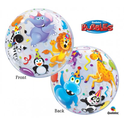 "22"" Animal Safari Bubble Helium Foil Balloon"