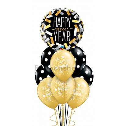 10 Balloons Happy New Year Balloon Bouquet