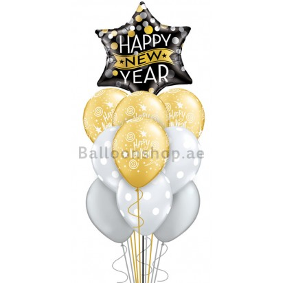Mega Jumbo Happy New Year Balloon Arrangement