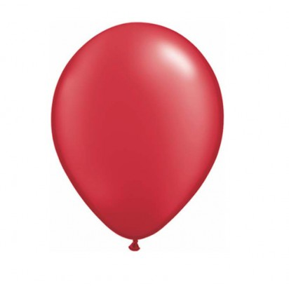 "11"" Pearl Ruby Red Plain Helium Balloons"