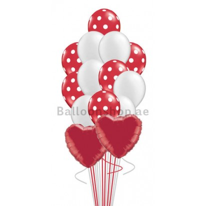 A Heart Full of Love Valentines Balloon Bouquet