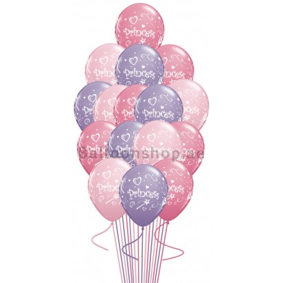 Princess Bouquet Pink and Lilac  Balloon Bouquet