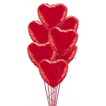 The Perfect Love Bunch Valentines Balloon Bouquet