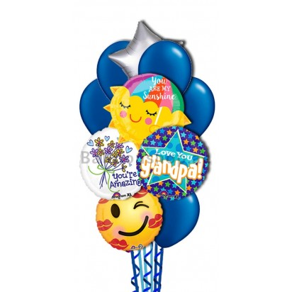 Love You Grandfather Helium Balloon Bouquet
