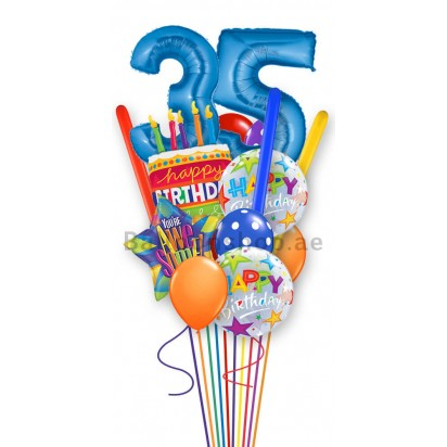 Perosnalized Any-Age Birthday Balloon Bouquet
