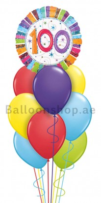 100st Birthday (century old) Balloon Arrangement
