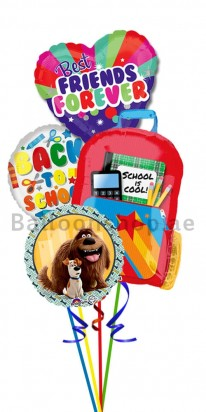 Back To School Best Friends Helium Foil Balloon Bouquet