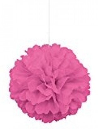 Pink Pom Pom Decoration, 16-Inch