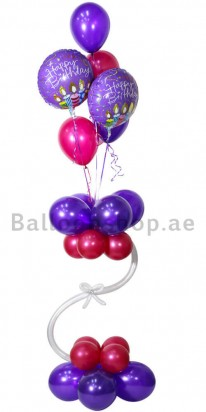A Magentic Birthday Balloon Arrangement