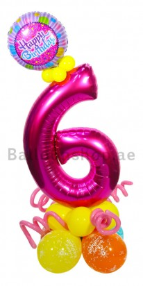Any Age Girl Birthday Balloon Arrangement