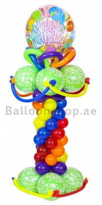Birthday Blast Bubble Balloon Arrangement