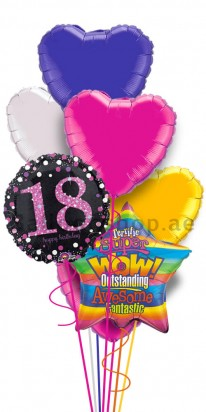 Happy 18th Birthday (We Love You) Balloon Bouquet