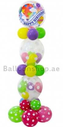 Birthday Bubble Tower Balloon Column