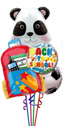 Back To School Panda Helium Foil Balloon Bouquet