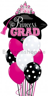 Mega Jumbo Princess Graduation Balloon Arrangement