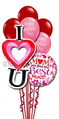 Love You Mom Balloon Bouquet
