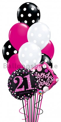 21st Birthday Girl Helium Balloon Bouquet