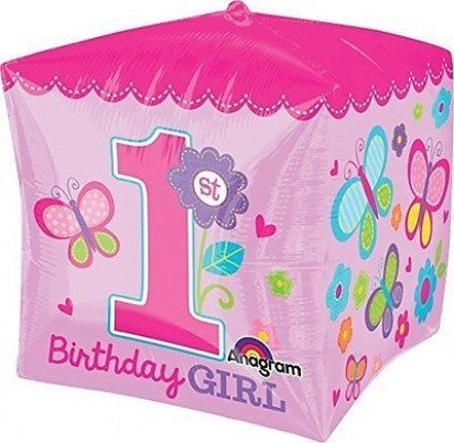 "15"" Girl First Birthday Helium Pink Foil Balloon"