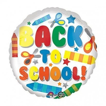 "18"" Back To School Helium Foil Balloon"
