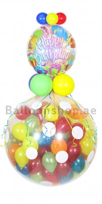 Gigantic Hanging Birthday Balloon Arrangement