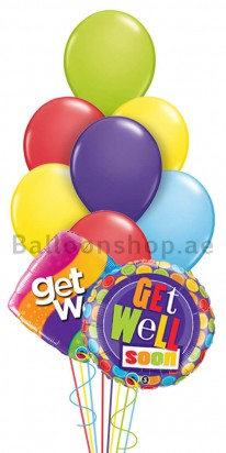 (10 Balloons) Get Well Assorted