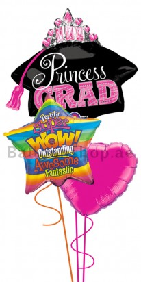 Princess Graduation Balloon Arrangement