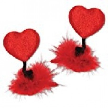 Heart Hair Clips Party Accessory (2/Pkg)