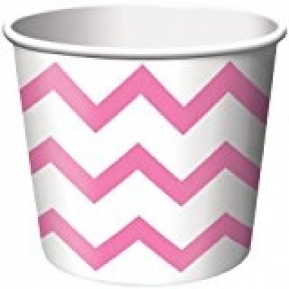 Stripe Pink Cups (6 cts)