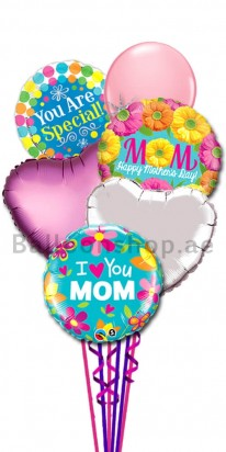 Happy Mother's Day Balloon Bouquet (You are number 1)