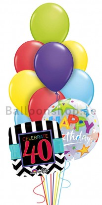 Mega Jumbo 40th Birthday Balloon Arrangement