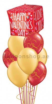 Jumbo Bouquet Valentine's Day Orbz Balloon Arrangement