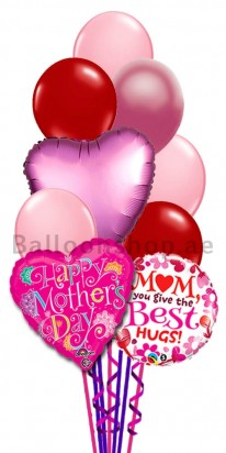 Best Hugs Happy Mother's Day Balloon Bouquet