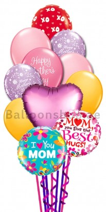 Hugs and Kisses Mother's Day Balloon Bouquet