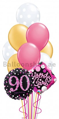 Elegant 90th Birthday Balloon Arrangement