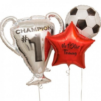 Fun Football Personalized Trophy Balloon Bouquet