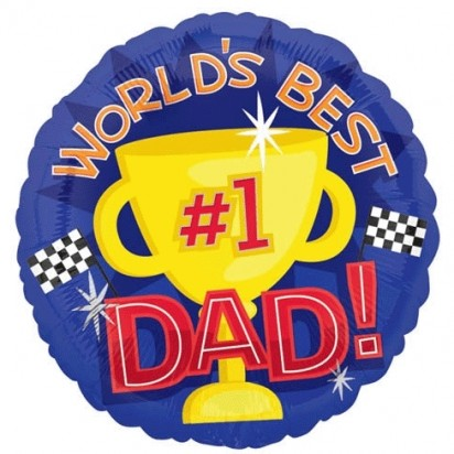 "18"" World's Best Dad Helium Foil Balloon"