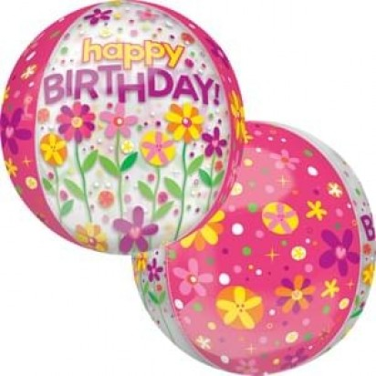 15 BIRTHDAY GARDEN PATCH CLEAR ORBZ BALLOON