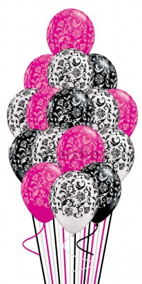 Absolutely Damask Celebration Balloon Bouquet