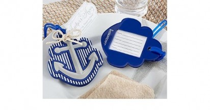 Anchors Away Luggage Tag Baby Shower Party Accessories