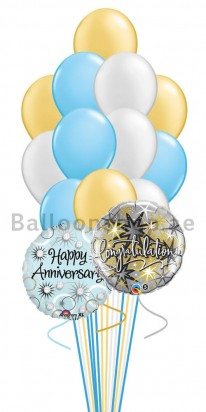 14 Balloons Happy Anniversary Balloon Bouquet