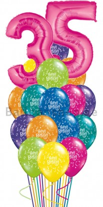 Pink Madness Any Age Birthday Balloon Bouquet
