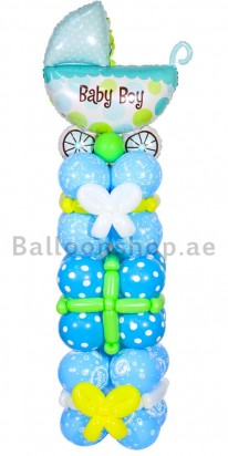 Baby Boy Tower New Born Balloon Column